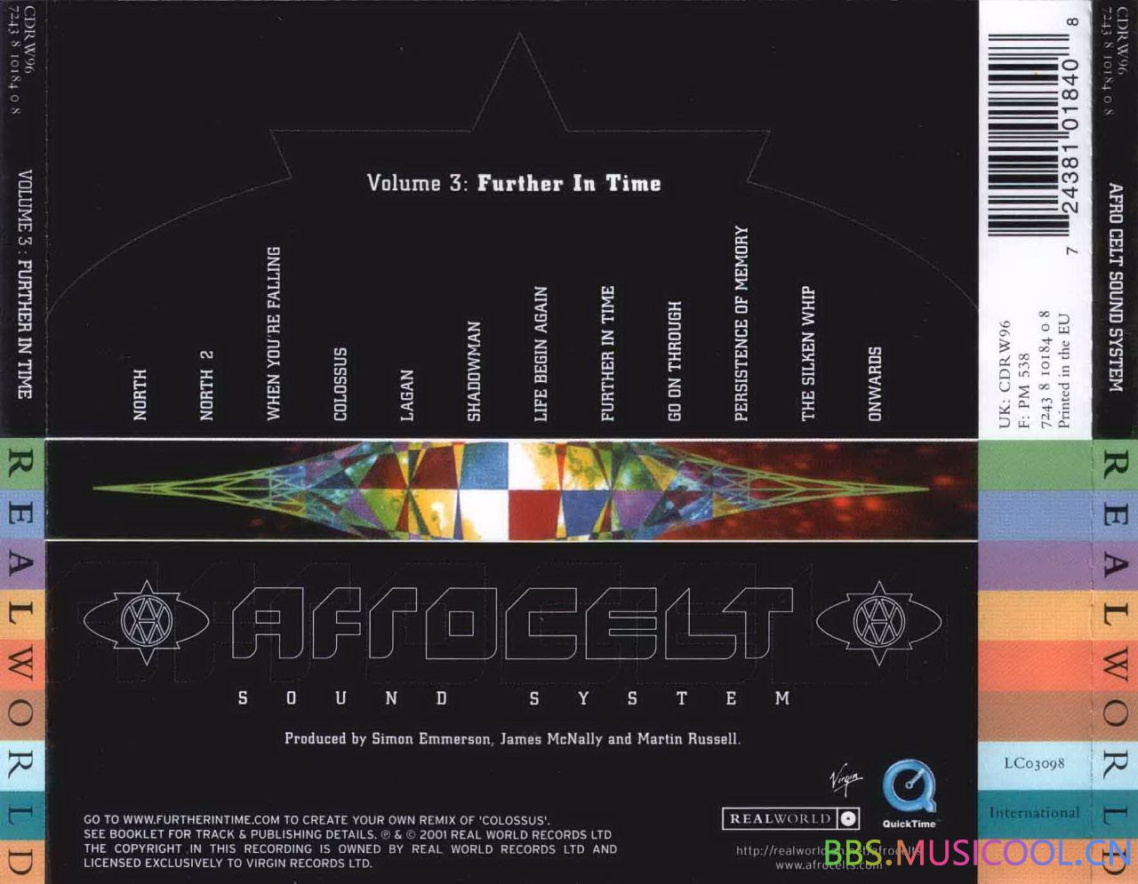 Afro Celt Sound System - Volume 3 Further In Time - Trasera.jpg